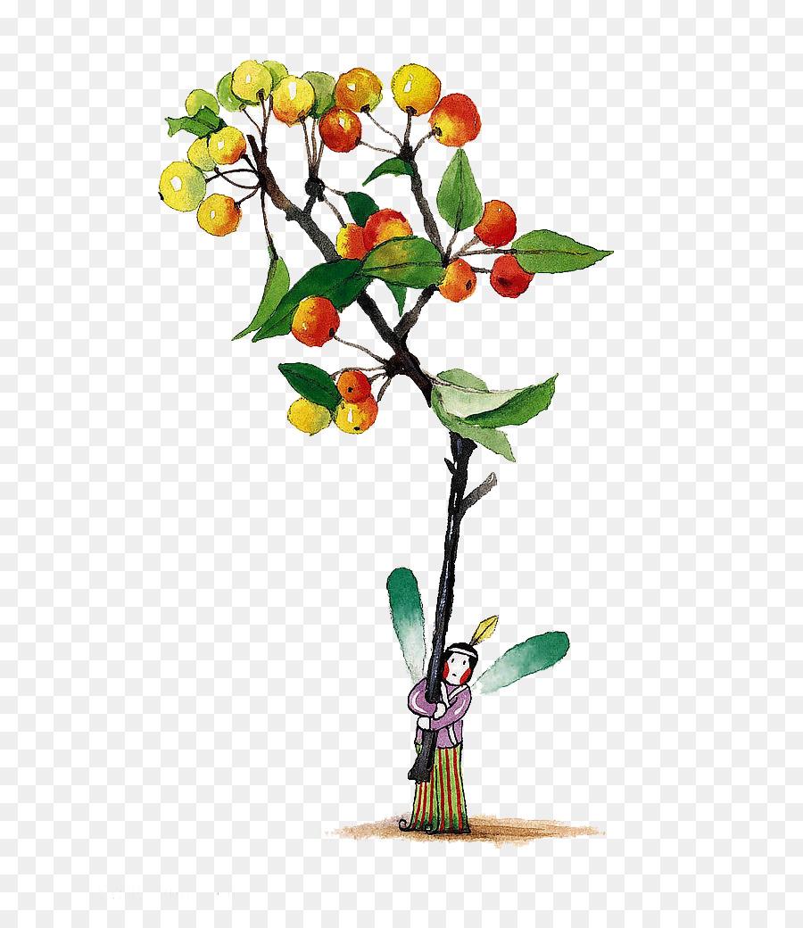 Árbol De Dibujos Animados De Apple - De dibujos animados de los ...