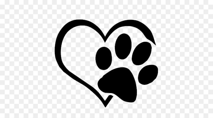 dog cat paw decal sticker love paws 500500 transprent