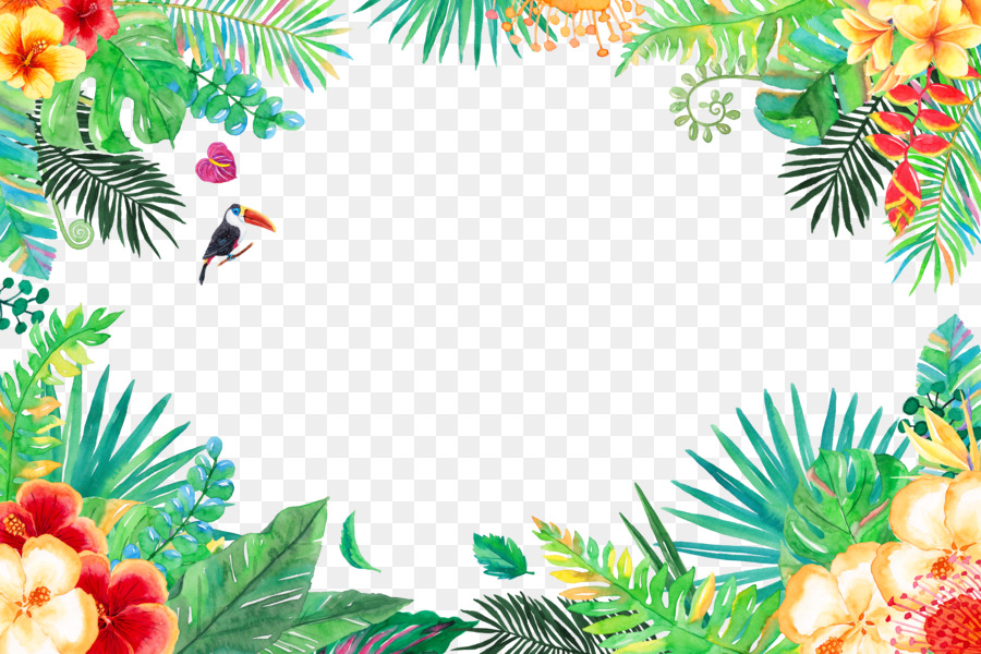 tropics tropical rainforest summer flowers and birds png