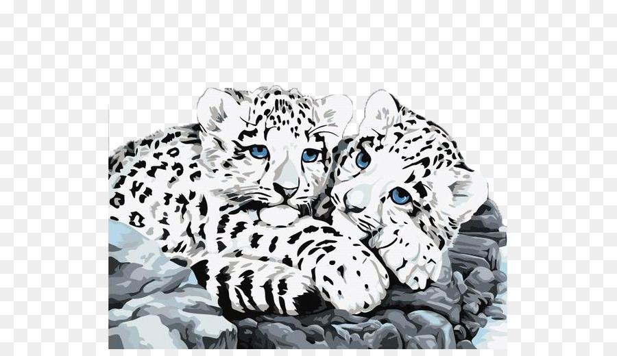 El Leopardo de las nieves de Pintura por número de - Dos lindos los ...