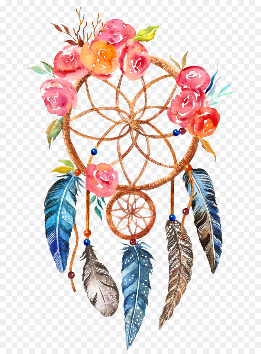 Printing Boho Chic Printmaking Dreamcatcher Canvas Print