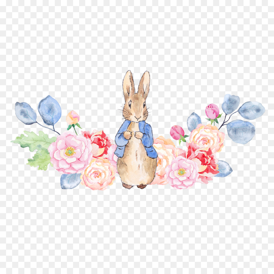 the tale of peter rabbit clip art rabbit and flowers