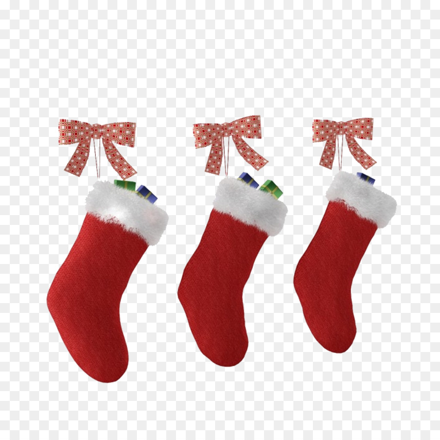 c8697d0d3 Christmas stocking Santa Claus Sock - Red Christmas socks png ...