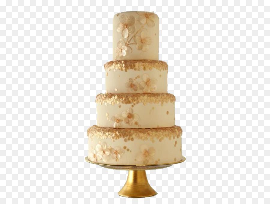 Wedding Cake Birthday Cake Cupcake Gold Layer Cake Png Download