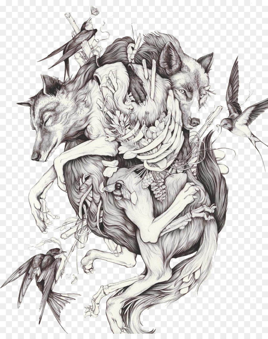 Artist drawing painting sketch wolf