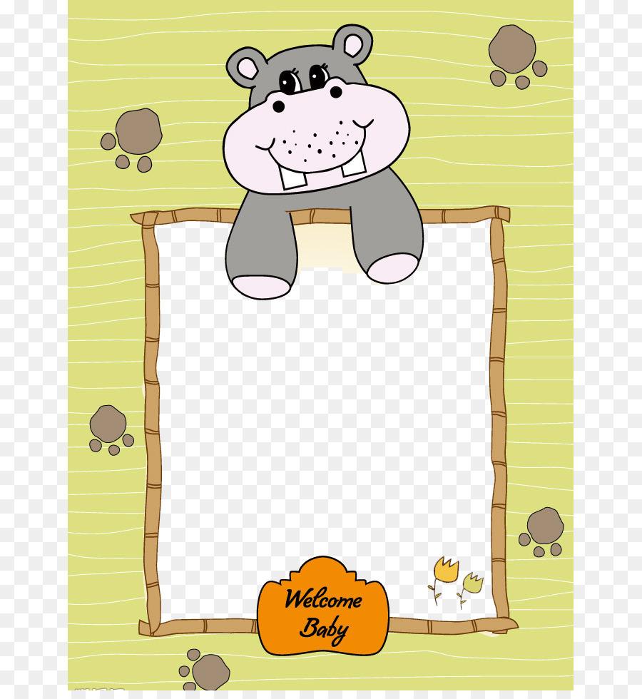 Marco de imagen - Lindo hipopótamo frontera Formatos De Archivo De ...