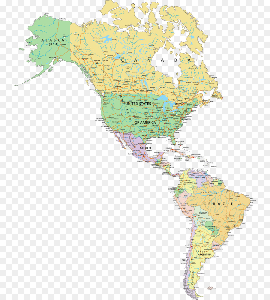 United States World map Globe - Vector map of North America png ...