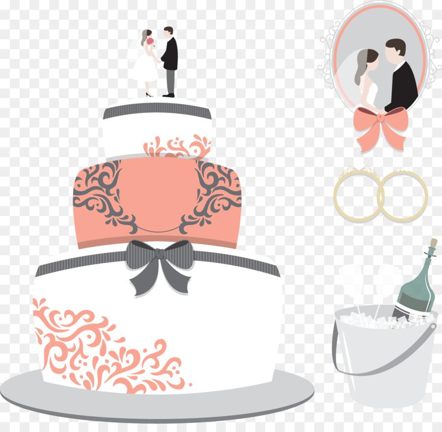 Hochzeitstorte Toskanischen Hall Banquet Center Vektor Hand