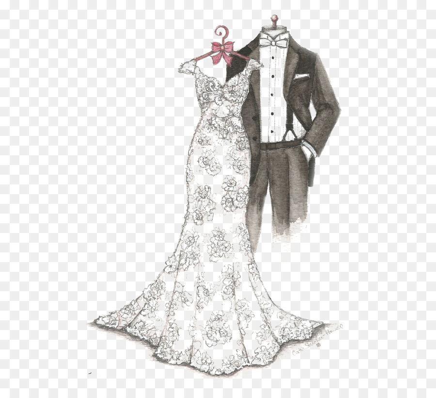 My Dreamlines Wedding Dress Sketch Gift - Dresses png download - 564 ...