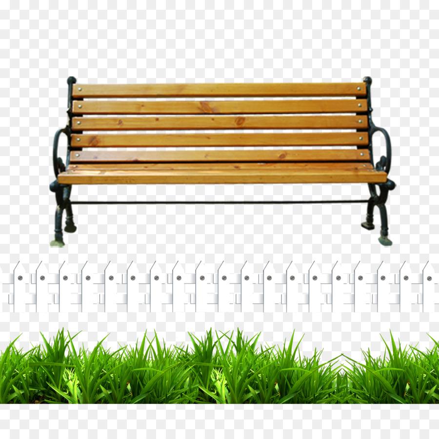 Banco de imágenes prediseñadas - Valla blanca verde banco del parque ...