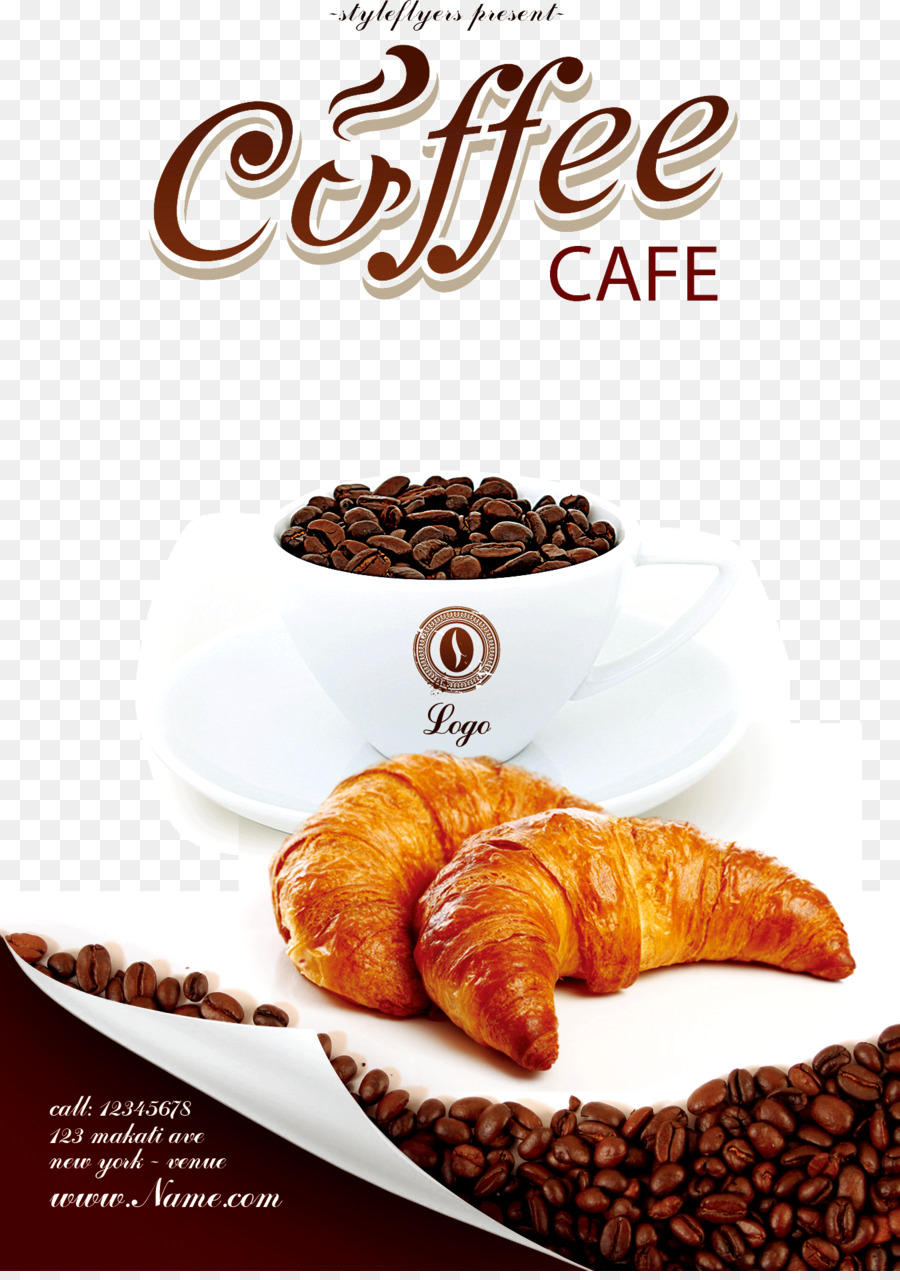 Coffee Cafe Bakery Flyer Coffee Poster Png Download