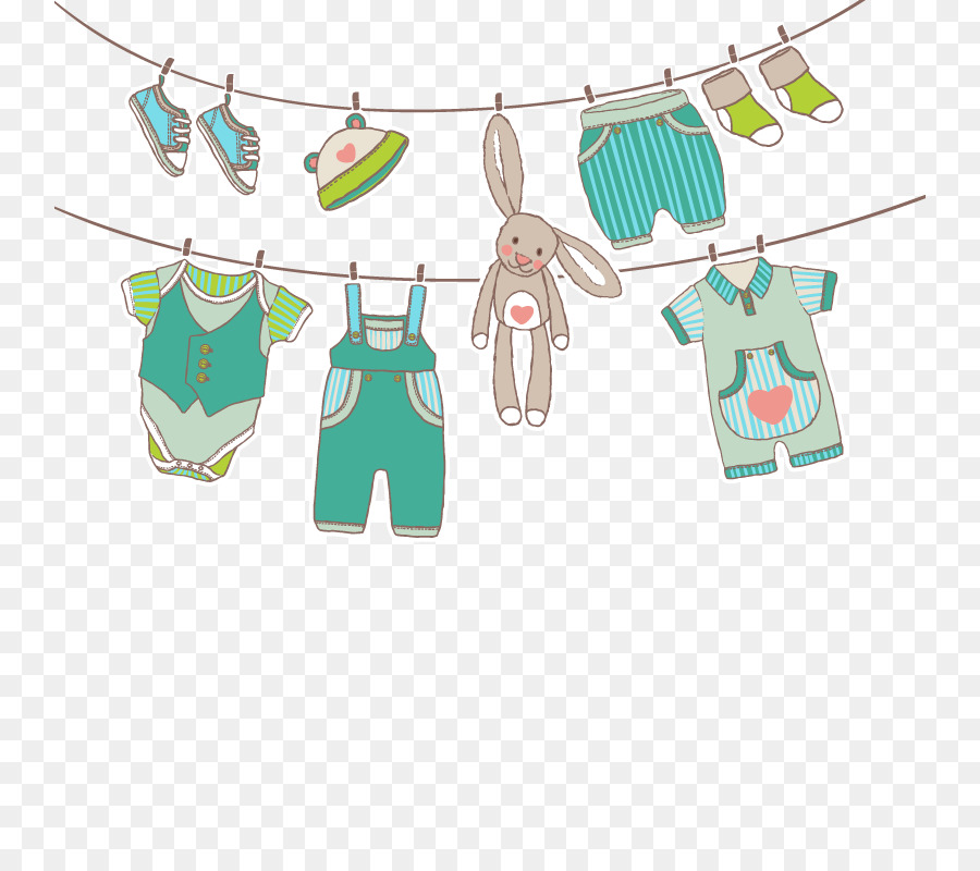 infant children s clothing euclidean vector vector hanging clothes
