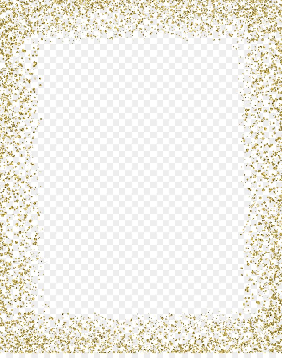 Gold Glitter MIME - Gold color border png download - 2400*3000 ...