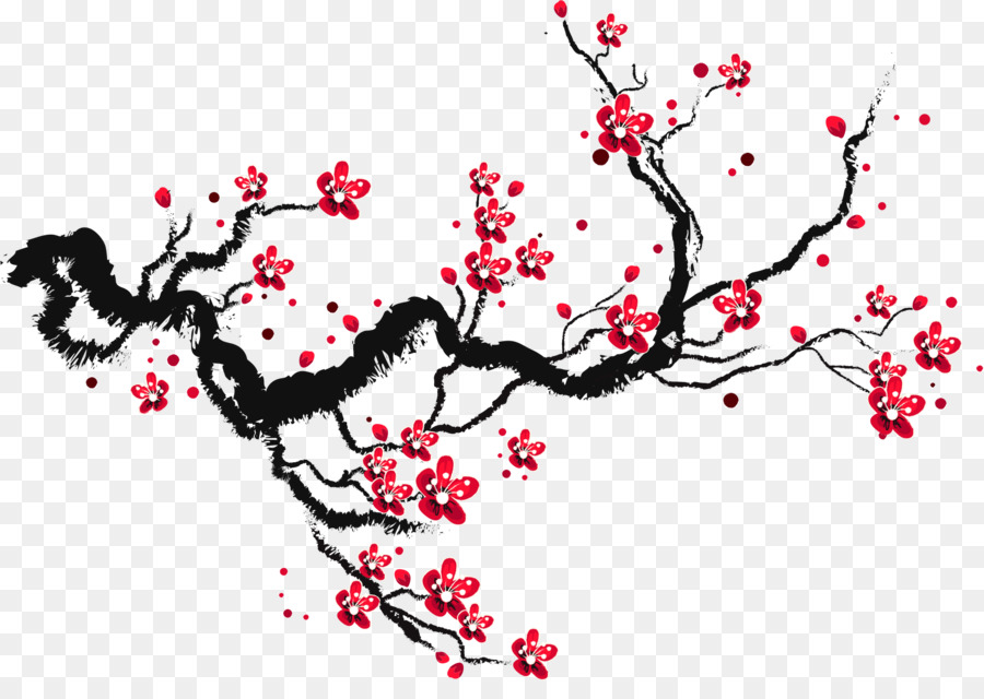 Cherry Blossom Drawing Paper Sketch Ink Cherry Blossoms