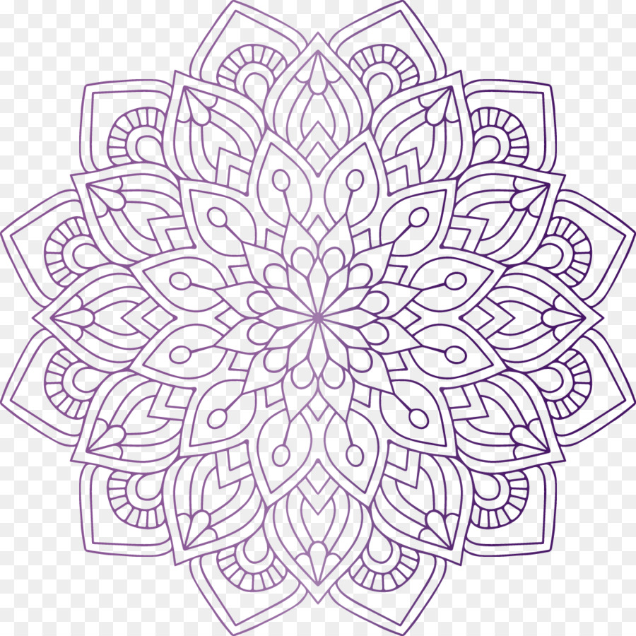Mandala Coloring Book Hinduism Religion