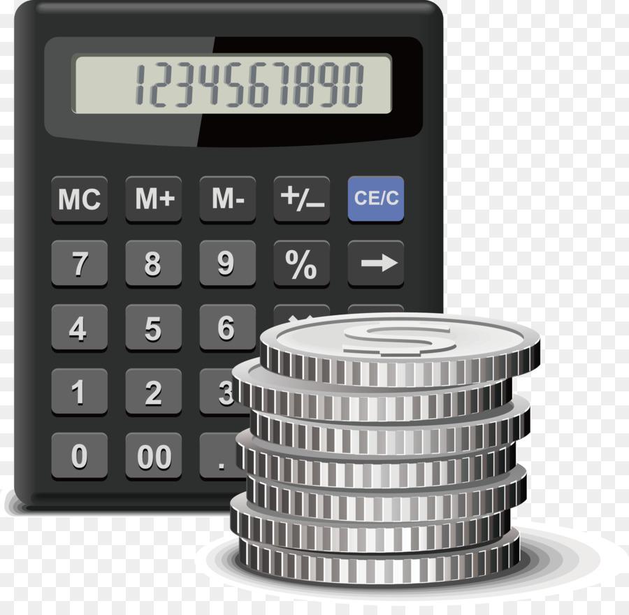 accounting calculator accountant birmingham water works vector