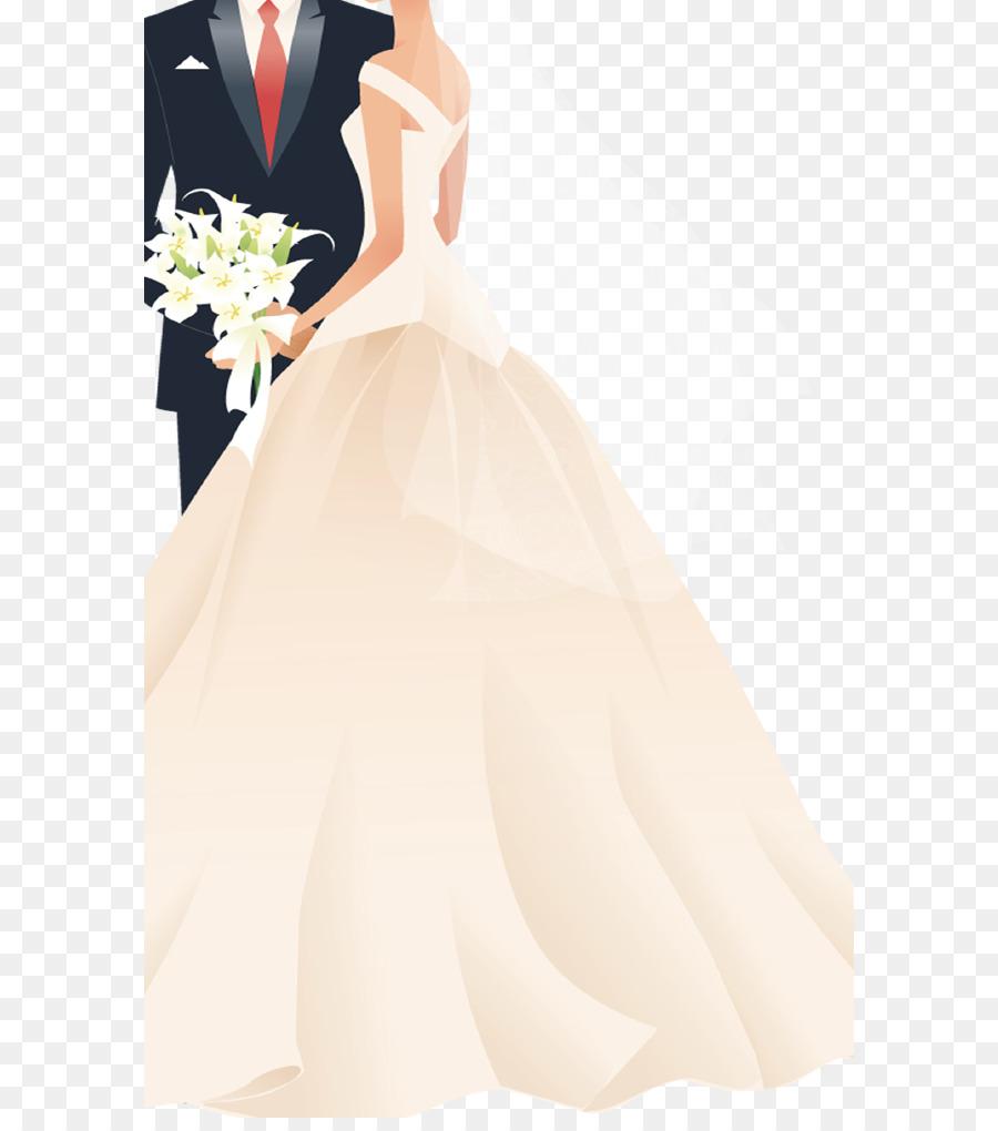 Wedding invitation Bridegroom - bride and groom png download - 640 ...