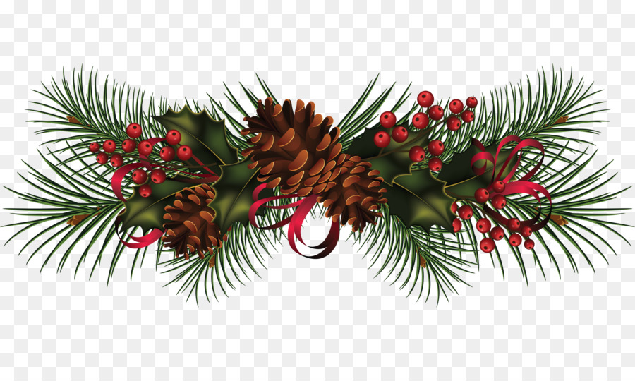 christmas garland wreath clip art pine cone decoration image png rh kisspng com garland clipart flower garland clip art