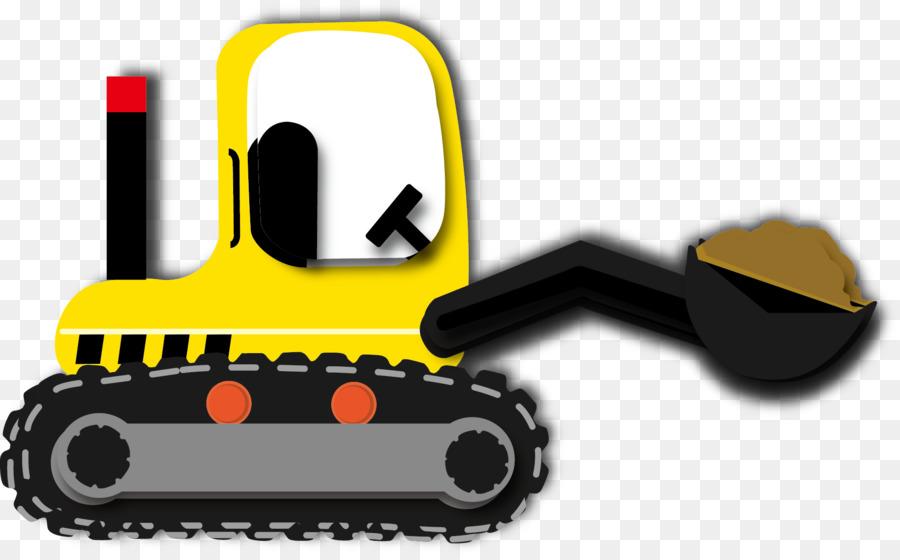 Fahrzeug Zeichnung Traktor Cartoon Bulldozer Png Herunterladen