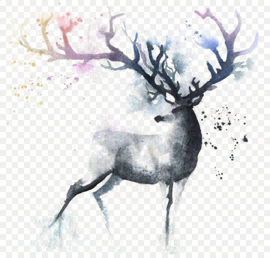 Antler Canvas Painting