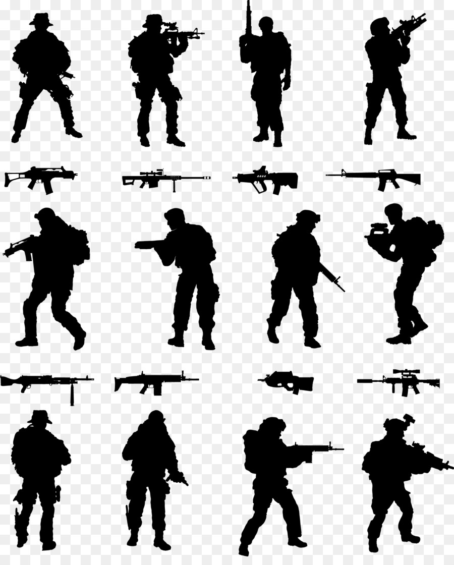 Soldier Silhouette png download - 2244*2749 - Free Transparent