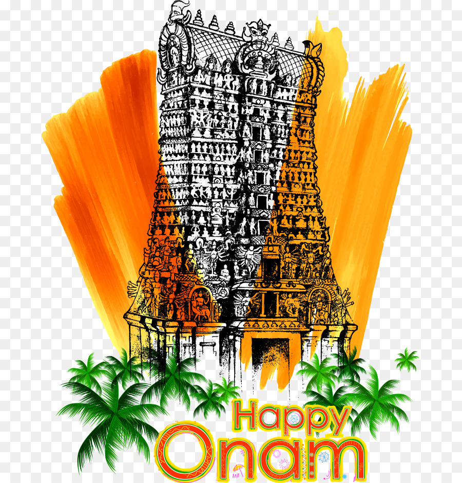 Kerala Onam Illustration Vector India Onam Festival Png Download