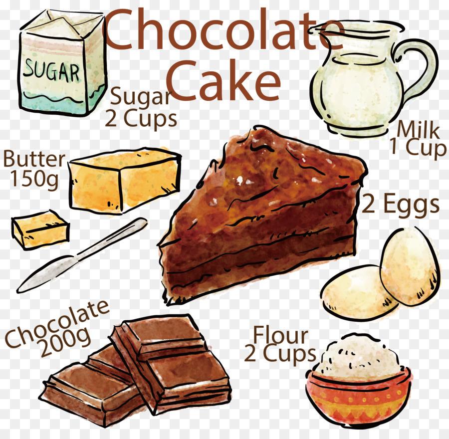 Chocolate cake Birthday cake Recipe Red velvet cake Painted