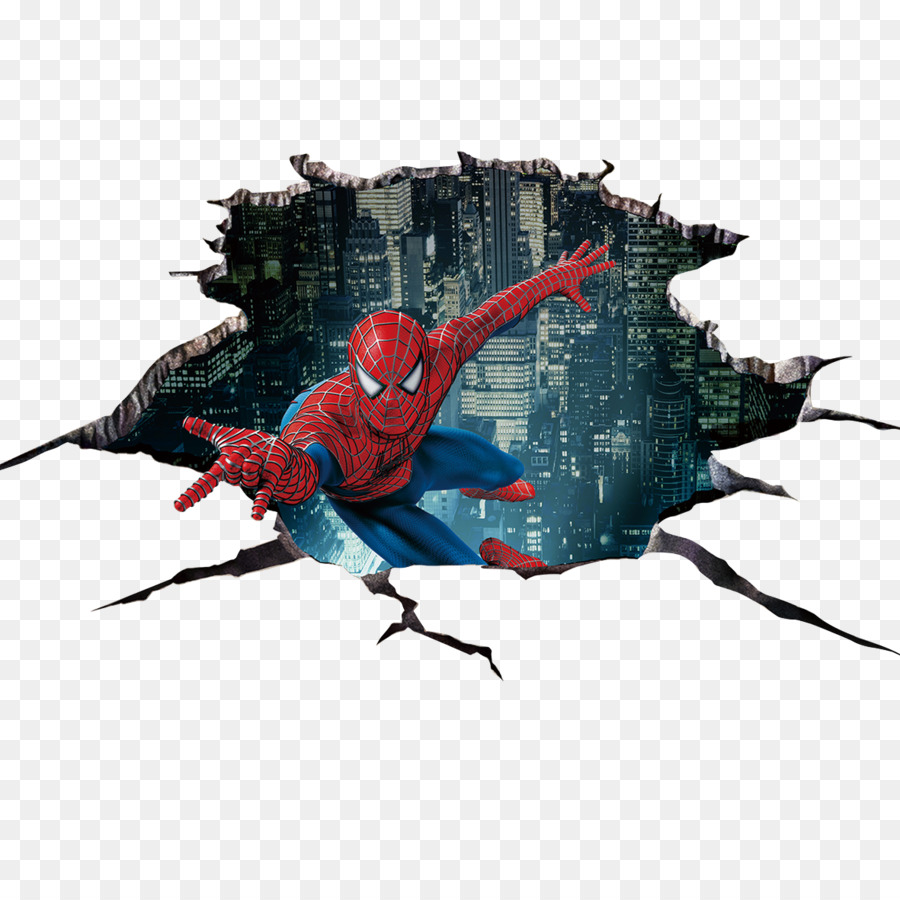 Spider Man Sticker 3D Computer Graphics   3D Design Videos