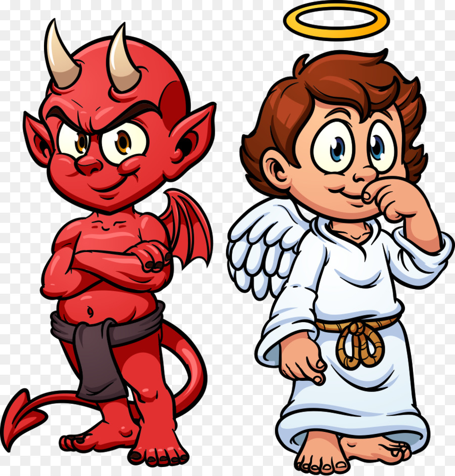 devil shoulder angel illustration vector devil and angel png rh kisspng com Line Drawing Angel vs Devil On Shoulder Little Angel and Devil On Shoulder