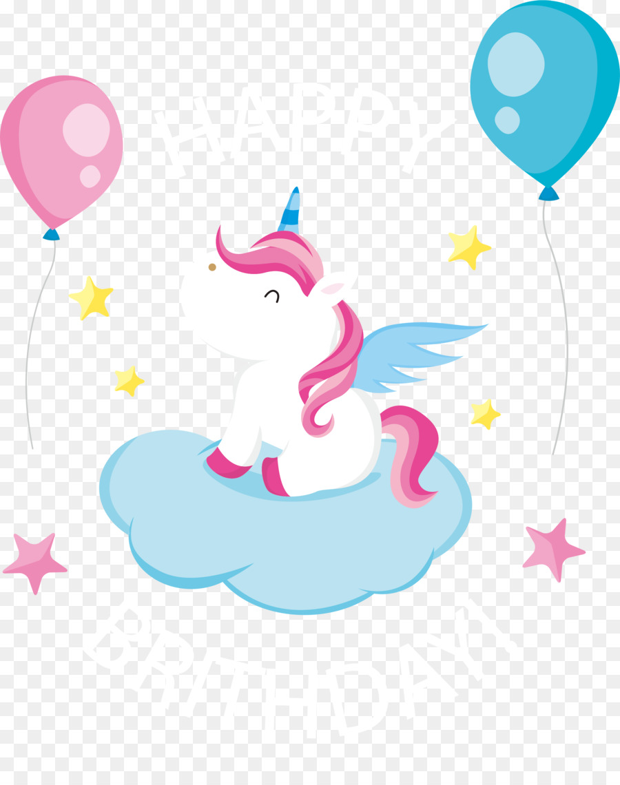 Birthday Greeting Card Euclidean Vector Lovely Pegasus Birthday