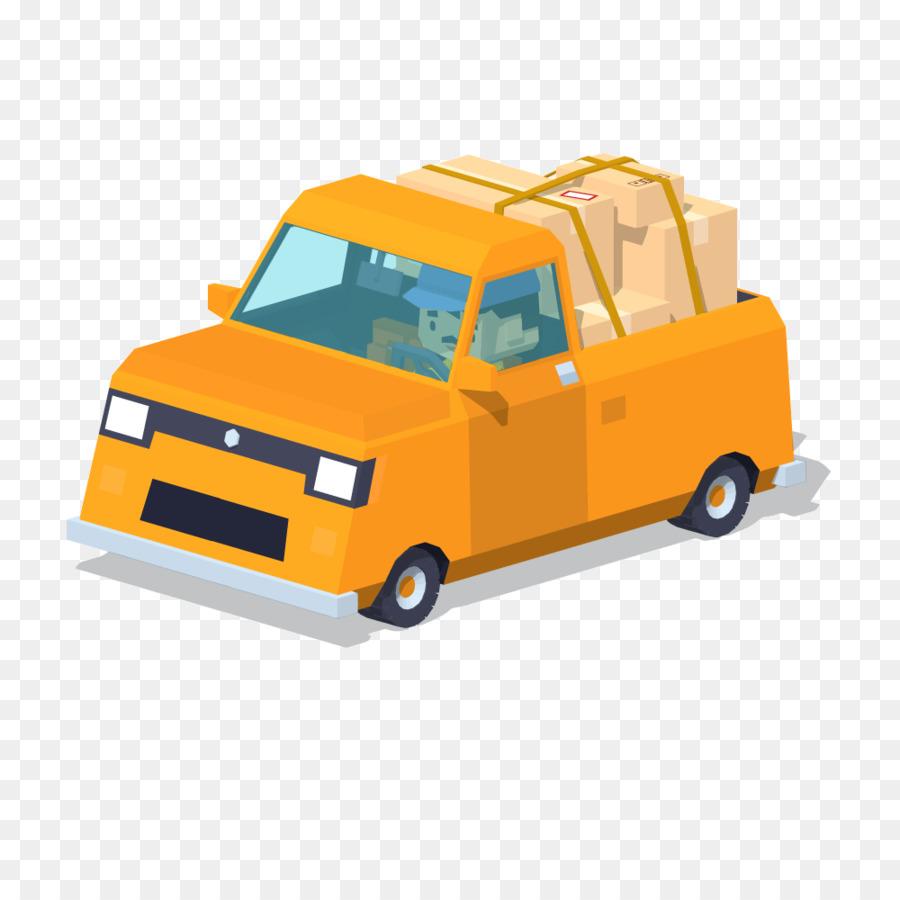 Camioneta de dibujos animados Ilustración - Amarillo pequeño ...