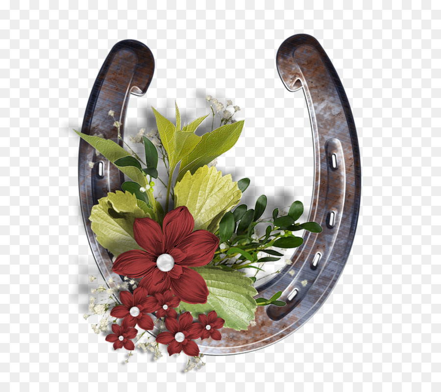 Horseshoe floral. Flower background png download