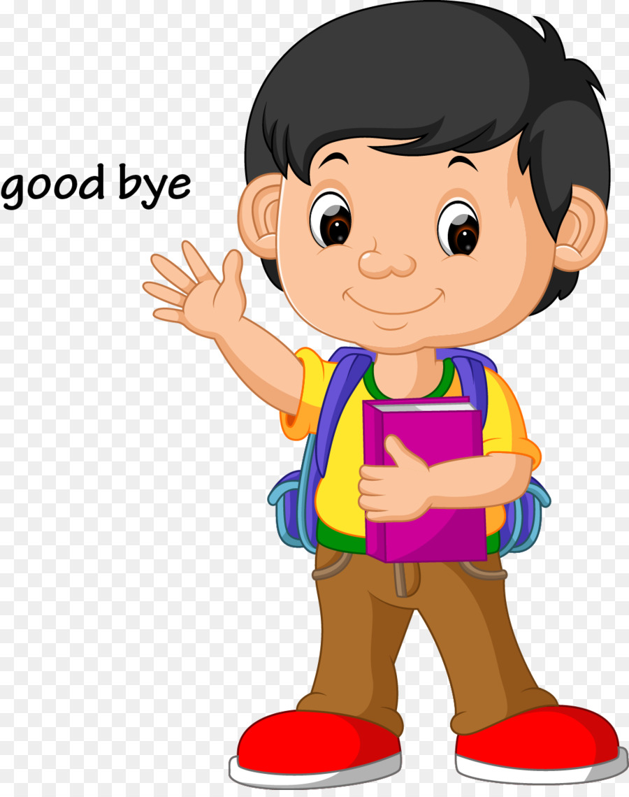 stock illustration school clip art vector kids wave goodbye png rh kisspng com free clipart goodbye goodbye and good luck clipart