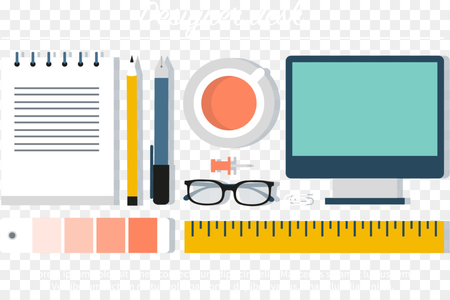 Designer Icon Designers Office Supplies Png Download 4848 Custom Designer Office Supplies