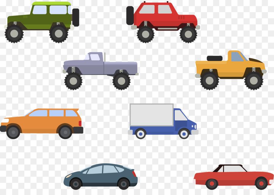 Sports Car Mini Cooper Pickup Truck Color Cartoon Car Png Download