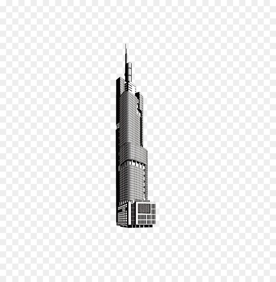 Hitam Dan Putih Pencakar Langit Gedung Bertingkat Tinggi Gedung