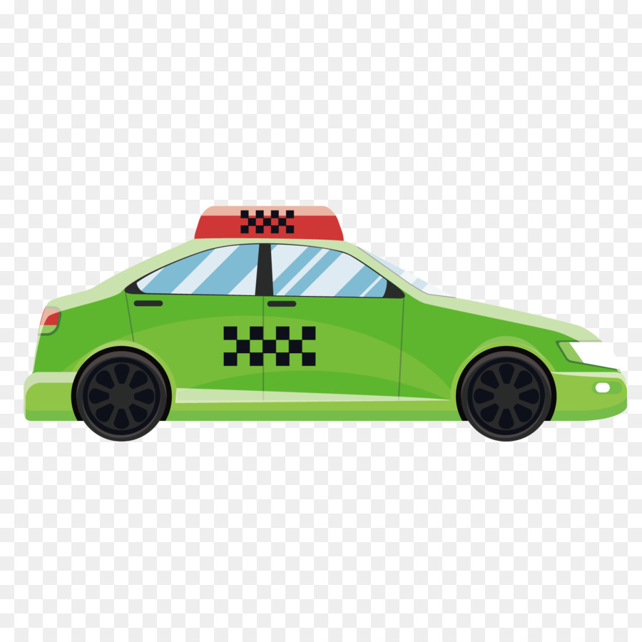 Car Taxi Flat Design Vector Green Png 1501 Free Transpa