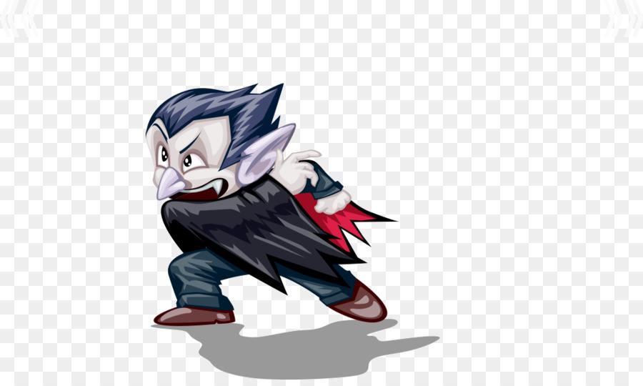 Cartoon Ilustración De Halloween - Dibujos Animados De Vampiro png ...