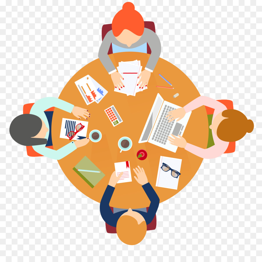 Meeting Euclidean Vector Round Table   Cartoon Picture Download Business  Meeting