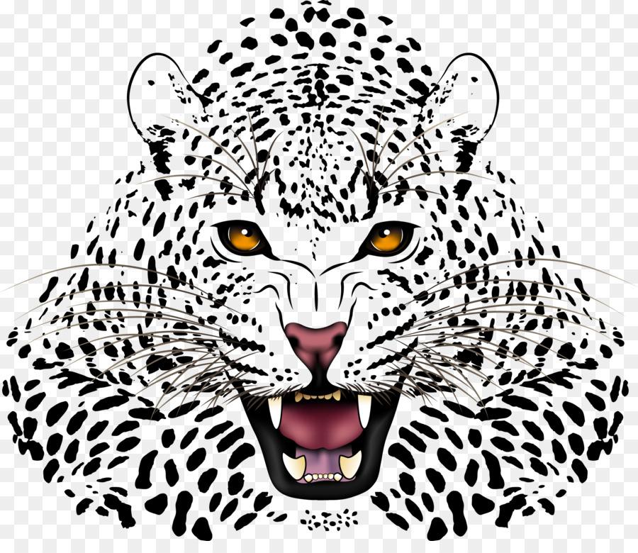 De leopardo, Jaguar Cheetah pantera Negra - Vector pintado a mano ...