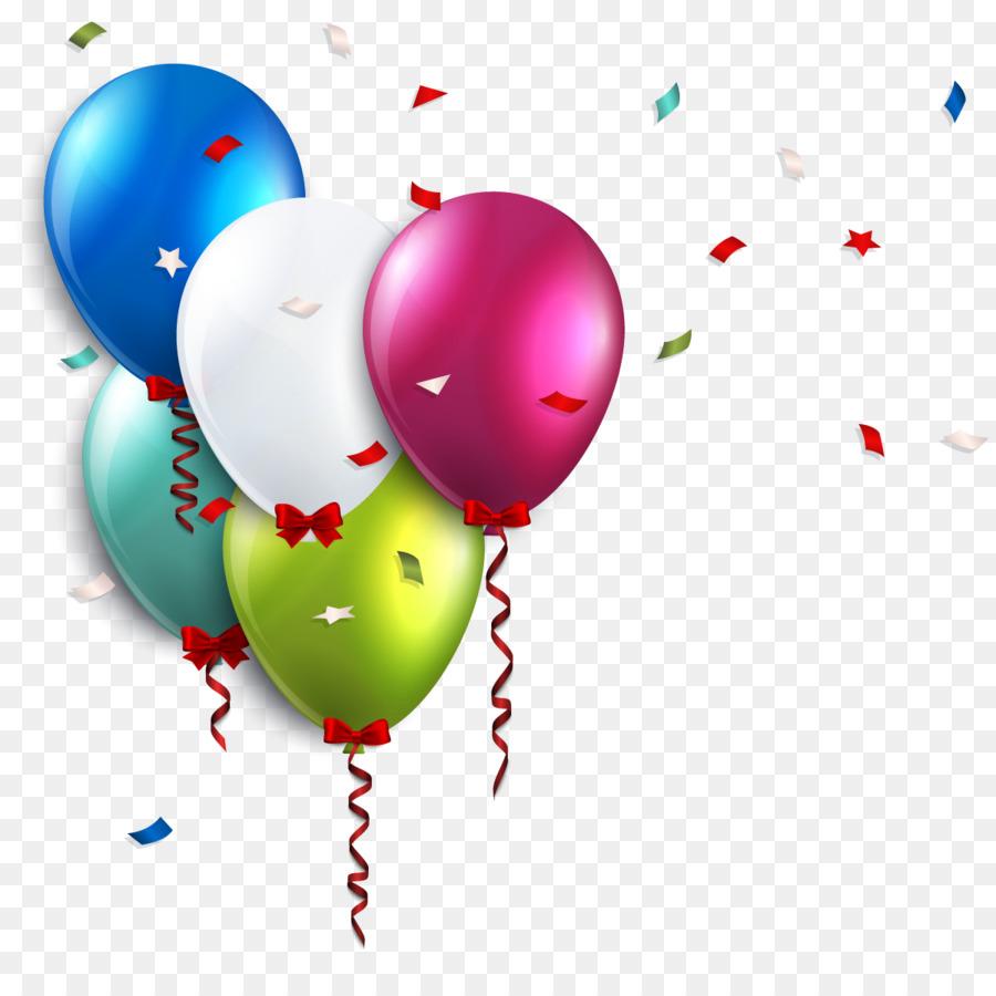 Birthday Balloon Wedding invitation Clip art - Birthday Balloons png ...