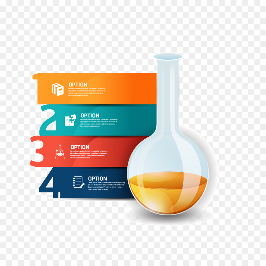 Concept Idea Infographic Diagram Vector Test Bottle With Light Bulb Template For Creative