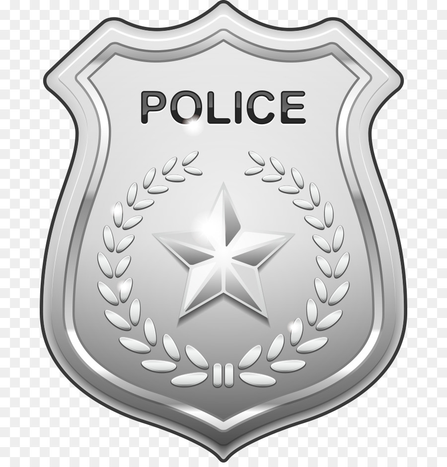 Police badge officer. Cartoon png download free