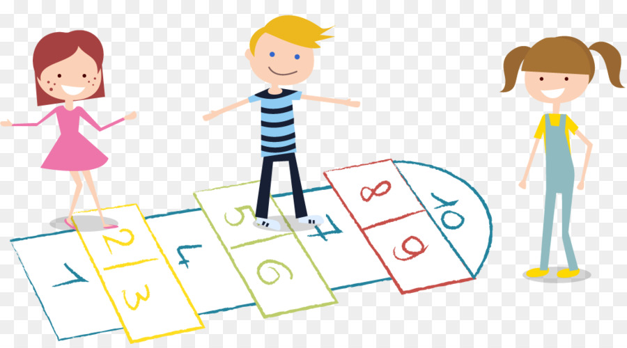 Hopscotch Child - Kids playing hopscotch png download
