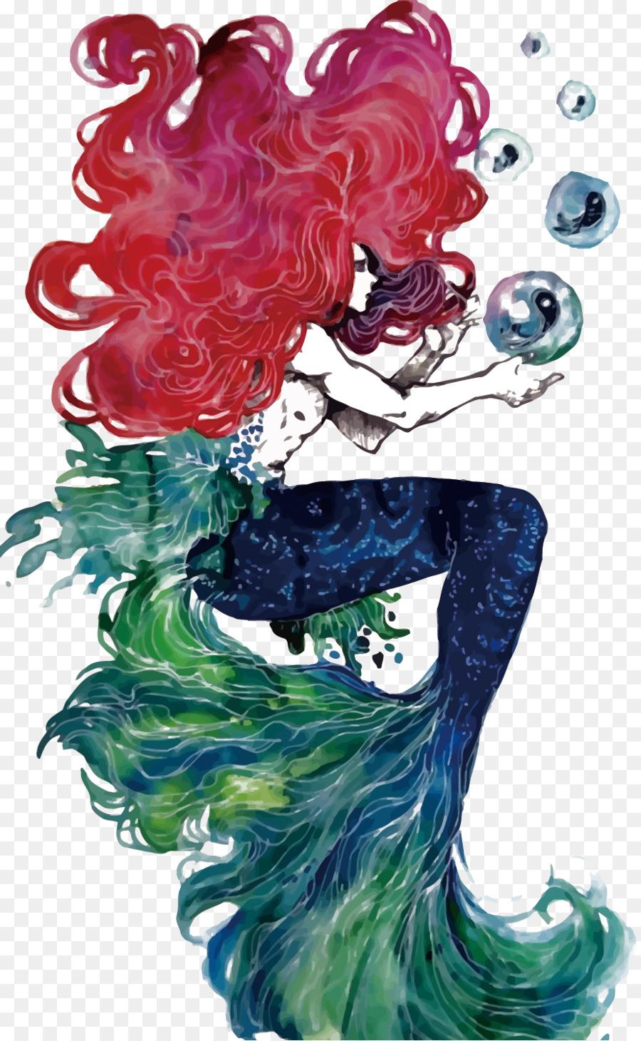 ariel the little mermaid illustration