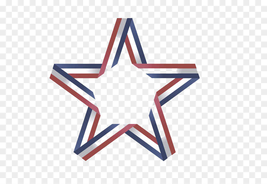 Symbol Star Color Red And White Blue Ribbon Five Stars