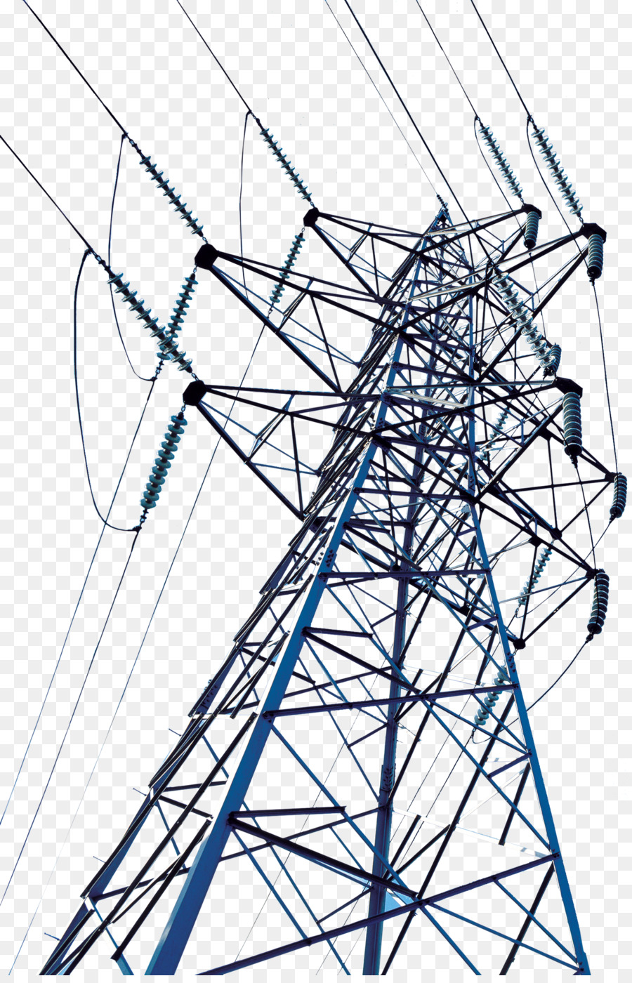 High voltage Transmission tower Electric power transmission Wire ...