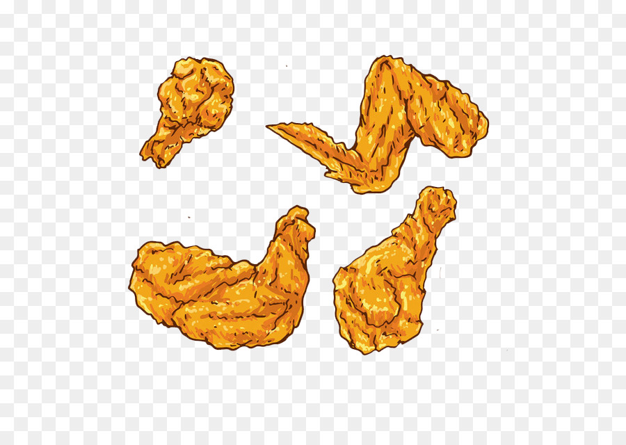 Fried Chicken Buffalo Wing Euclidean Vector And Waffles