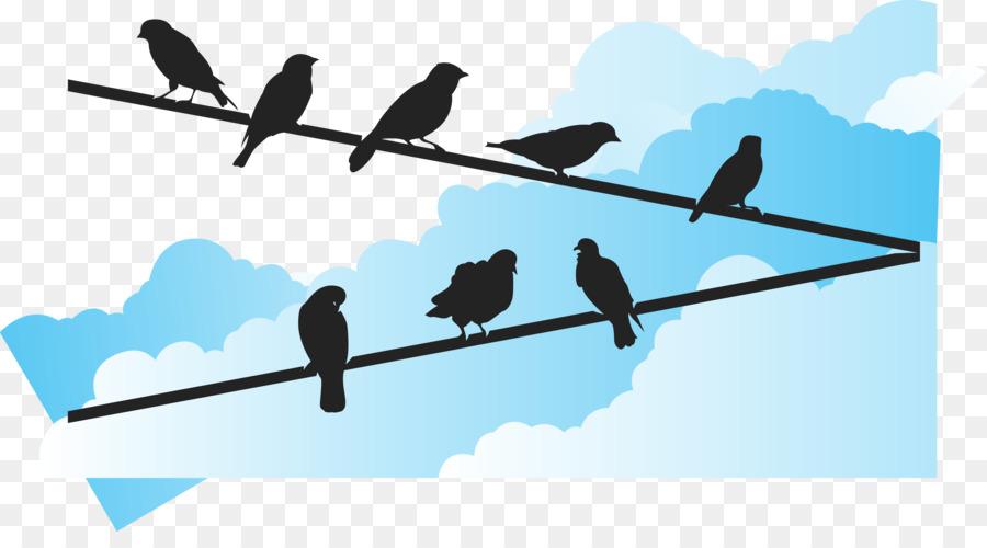 Bird Euclidean vector Wire - Blue sky under the bird vector png ...