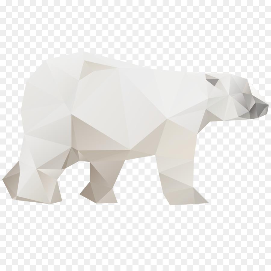 Polar bear Computer file - Origami Polar Bear png download ... - photo#33